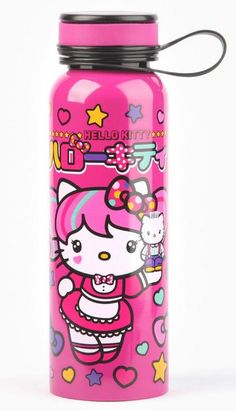 Japanimation Hello Kitty for yummy drinks! Hello Kitty Items, Sanrio Hello Kitty, Kawaii Cute, Kawaii Stuff, Hello Kitty Christmas, Hello Kitty Wallpaper, Sanrio Characters, Stainless Steel Bottle, My Melody