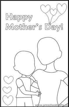 Happy Mothers Day Drawing Worksheets For Kids 452