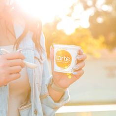 Starting our morning the only acceptable way, with Tarte Yogurt.