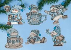 Design Works Crafts Cocoa Snowmen 1689 Christmas by DebiCreations, $15.99