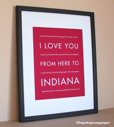 I Love You from Here to Indiana