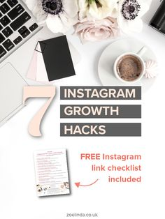 7 Instagram Growth Hacks: How To Authentically Grow Your Following And Engagement On Instagram | Sick of spam comments and the follow/unfollow method on Instagram? You're not the only one! Instead of losing faith in Instagram, there are 7 things you can easily do to help boost your presence and connect with your audience on Instagram. Click here to read my guide and grab your FREE checklist! Perfect for bloggers, creative entrepreneurs, and small business owners!