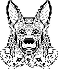 adult coloring pages dog 1 - Free Dog Coloring Pages