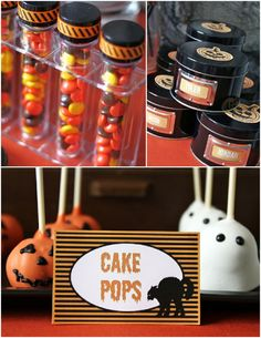 Halloween: Kid's Dessert Table with DIY favors and treats!!