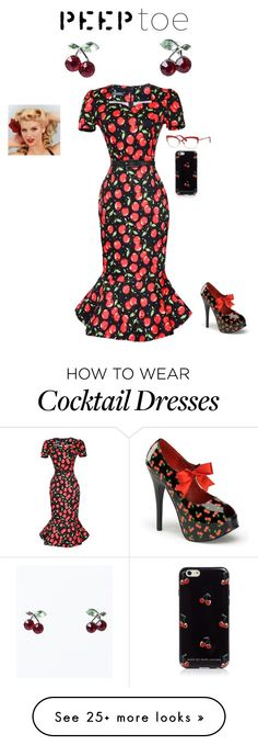 """Cherry Peep Toe Pinup"" by losingitlora on Polyvore featuring Marc by Marc Jacobs, Kate Spade, Paul Mitchell, contest, cherry, pinup, peeptoe and contestentry"