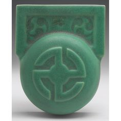 """Teco Pottery - Wall Pocket. Number 439A. Designed by William Gates. Chicago, Illinois. Circa 1900. 5-1/2"""" x 6-1/2""""."""