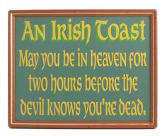 Irish toast greeting card products cards and irish irish toast quothere39s to m4hsunfo
