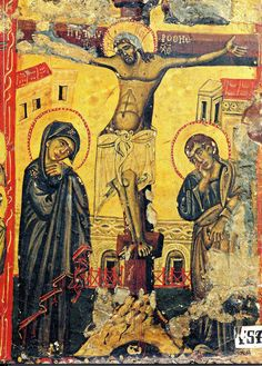 The Crucifixion. circa 1250-60. St Catherine's monastery, Mt Sinai.