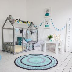 This twin size Scandinavian design children bed is an amazing wooden house bed for children to sleep and play. This adorable toddler bed-wooden house will make transitioning for toddler from a crib to a baby bed smoothly and look wonderful in your baby nursery interior, both for