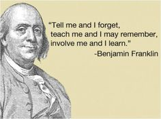 When I Think Of History I Think Of Benjamin Franklin And How He Inspired  Tons Of People To Invent Things And Start Improving Electricity.