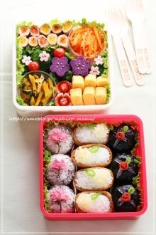 spring flower bento - website is in Japanese, and didn't see a recipe, only pictures.