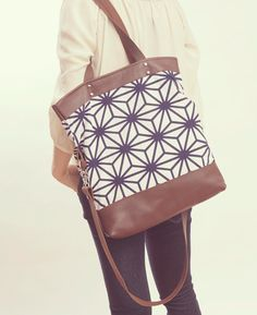 NOMAD Collection - Cotton & Leather Large Tote