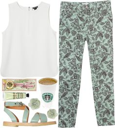 """mint"" by nadiasxox ❤ liked on Polyvore"