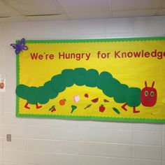 Very Hungry Caterpillar- perfect beginning of the year bulletin board