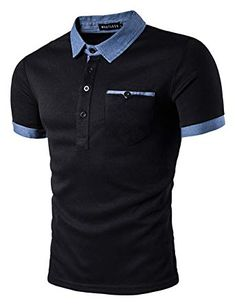 Polo Shirt Men Polo Homme 2017 Patchwork Single Breasted Mens Polo Shirt Short Sleeve Turn Down Collar Slim Fit Camisas Polo XXL Polo Shirt Brands, Slim Fit Polo Shirts, Polo T Shirts, Golf Shirts, Casual T Shirts, Casual Tops, Men Casual, Men Shirts, Polos Lacoste