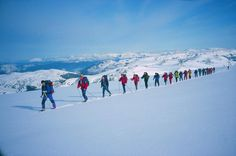 Skiing on top of the glacier  - Folgefonna National Park, Hardangerfjord region, Norway.