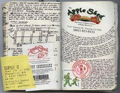 Kolby's Pacific Crest Trail Moleskine Journal.  A cool story on his blog.