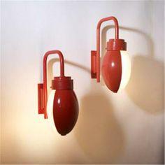 Franco Albini and Franca Helg; #3052 Enameled Metal and Glass 'Ochetta' Sconces for Arteluce, 1962.
