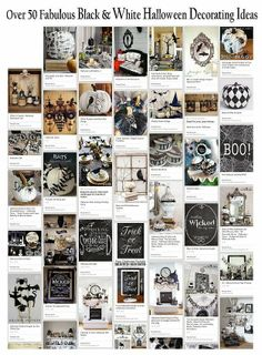 The Decorated House: ~ Over 50 Fabulous Black  & White Halloween Decor Ideas