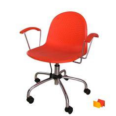 Silla sencilla color naranja Color Naranja, Chair, Furniture, Home Decor, Desk Chairs, Colors, Decoration Home, Room Decor, Home Furniture