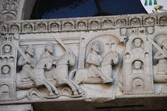 Catedral de Fidenza,relieve romanico Italia
