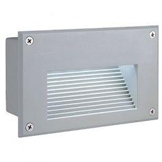 BRICK LED Downunder, Wandleuchte, silbergrau, weisse LED / LED24-LED Shop