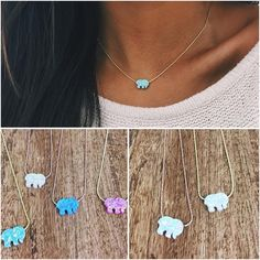 sterling silver opal ella necklaces.... who likes them? ✨ comment if you want! #savetheelephants