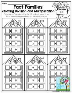 Multiplication and Division Fact Families- This is a helpful visual to show students the relationship between multiplication and division in 3rd and 4th grade!