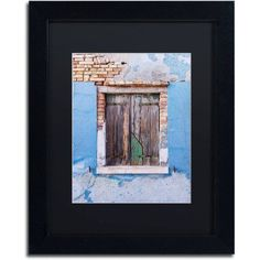 Trademark Fine Art Once Blue Canvas Art by Michael Blanchette Photography Black Matte, Black Frame, Assorted
