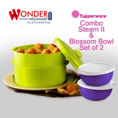 Tupperware Combo Steam it & Blossom Bowl Set of 2