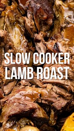 Slow Cooker Lamb This is truly the easiest way to cook roast lamb – add a handful of ingredients to your slow cooker and leave it to work its magic for hours. Lamb Roast Recipe, Lamb Shank Recipe, Lamb Chop Recipes, Roast Recipes, Best Roast Lamb, Steak Recipes, Recipes Dinner, Slow Cooker Lamb Roast, Crockpot Lamb
