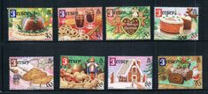 GB0507 Jersey 2013 Christmas bread dessert delicacy stamps 8 new 0730