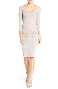 9f98269998c9e JAMES PERSE V-Neck Ruched Dress.  jamesperse  cloth