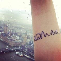 London skyline. Simple drawing as tattoo