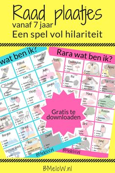 Raad plaatjes. vanaf 7 jaar. Een spel vol hilariteit BMeloW.nl Ted Talks For Kids, Best Ted Talks, Ikea Kids, Crafts To Sell, Diy And Crafts, Excel Formulas, Excel Tips, Friendship Lessons, Pop Sicle