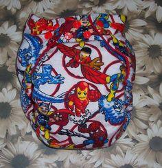 Custom Made Cloth Diaper-Marvel Super Heroes by Los Chiquitos. $9.25, via Etsy.