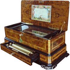 Magnificent Cartel Interchangeable Cylinder Music Box - REUGE_- Sublime Harmonie