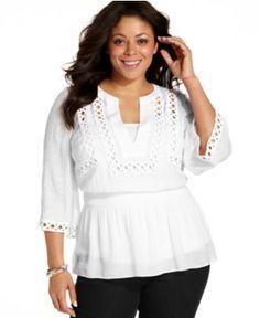 alfani plus size top, butterfly-sleeve paisley-print - plus size