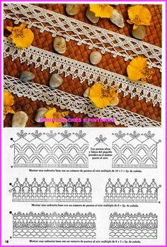 Crochet Edging Patterns, Crochet Lace Edging, Crochet Borders, Knit Crochet, Lace Tape, Crochet Decoration, Crochet Kitchen, Diy Crafts Jewelry, Needlework