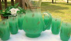 Vintage MidCentury West Virginia GREEN BLENDO by TheKrackerjackBox, $54.95