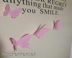 3d muursticker vlinders roze te bestellen bij www.stickerkamer.nl