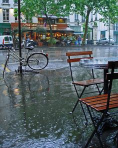Storm | Bd Beaumarchais, Paris 11e, France by Andrew. | Andrew Littlewood & Karl Newell