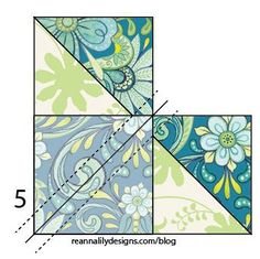 Chevron Grande - Flying Geese Sewing Quilt Tutorial - Jen Eskridge - ReannaLily Designs