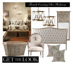 """""""French Country Chic Bedroom"""" by belleescape ❤ liked on Polyvore featuring interior, interiors, interior design, home, home decor, interior decorating, bedroom and country"""