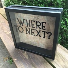 "WHERE TO NEXT? Travel adventures, ticket stubs 12x12"" Shadow Box, Memory Box, teen gift, wedding gift, anniversary gift, family adventures - pinned by pin4etsy.com"