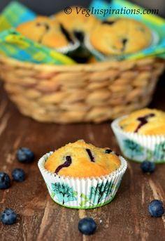 Egg Free Blueberry Wheat muffins | Veg Inspirations