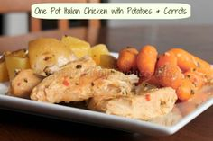 One Pot Italian Chicken with Potatoes and Carrots