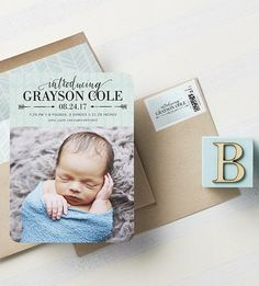 Create a birth announcement that fits babe's personality at Tiny Prints.