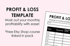 Easy Profit And Loss Statement My Indie Life Blog Brings You A Simple To Use 'monthly Expense Sheet .