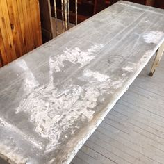 vintage zinc top work table